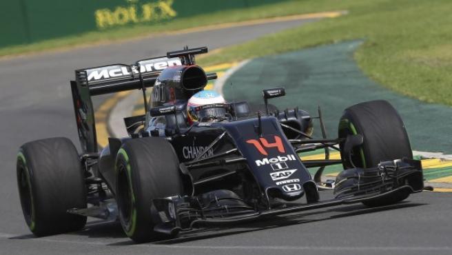 El piloto español Fernando Alonso, de la escudería McLaren-Honda.