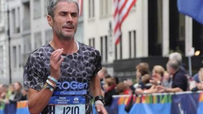 Martín Fiz, en el maratón de Nueva York 2015.
