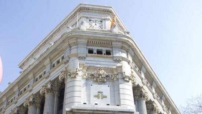 Sede del Instituto Cervantes en la madrileña calle de Alcalá, en el edificio de las Cariátides.