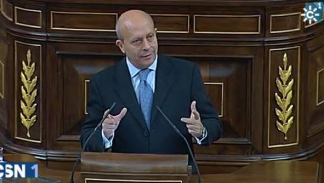 Captura del informativo en el que Canal Sur compara al exministro José Ignacio Wert con Rambo, según ha denunciado el PP-A.