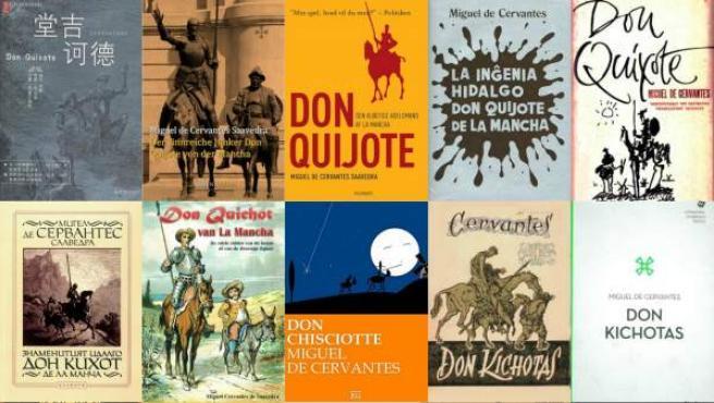Traducción de la obra de Miguel de Cervantes en varios idiomas.