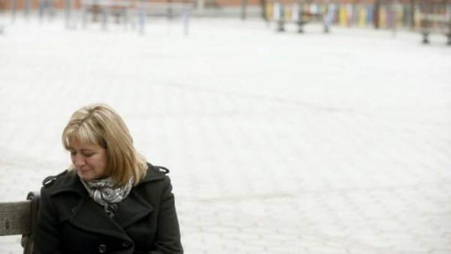 Isabel de la Fuente, madre de Cristina Arce, una de las cinco jóvenes víctimas de avalancha en la fiesta de Halloween en el Madrid Arena.