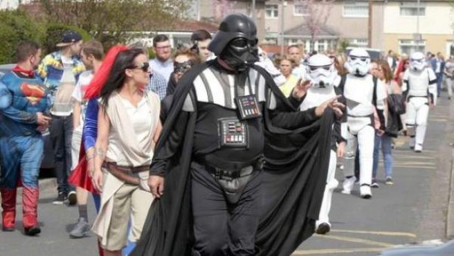 El padre de la joven fue el único que se disfrazó de Darth Vader, tal y como ella pidió.