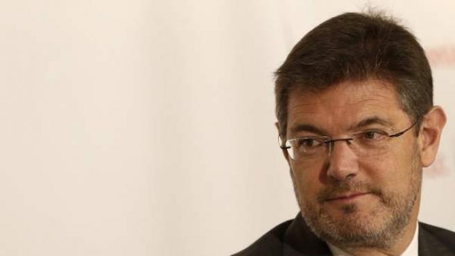 El ministro de Justicia en funciones, Rafael Catalá.