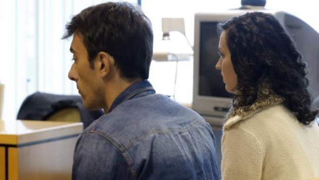Momento del juicio que en la Audiencia Provincial de Madrid contra Lorena G.F., acusada junto a su cómplice, Iván Trepiana, de intentar matar a la mujer del periodista Paco González.