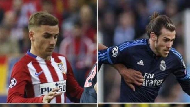 Combo de imágenes con escenas de los cuatro partidos que disputaron los equipos españoles en competiciones europeas esta semana.