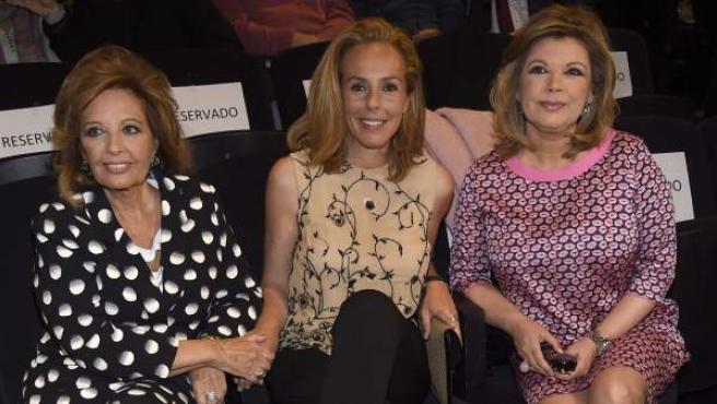 María Teresa Campos, Rocío Carrasco y Terelu Campos, el pasado 22 de abril.