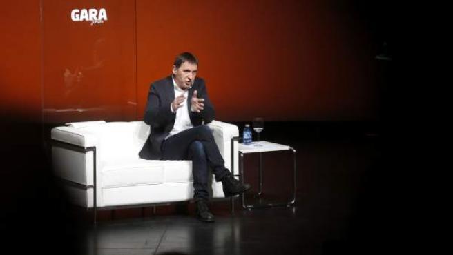Otegi en un foro organizado por el diario vasco 'Gara'.
