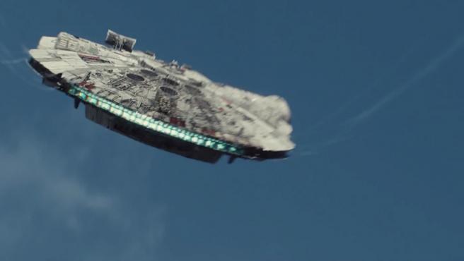 Primer vistazo al Halcón Milenario en el 'Episodio VIII'