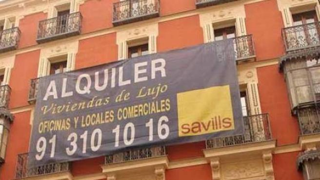 Imagen de archivo de un edificio en alquiler en Madrid.