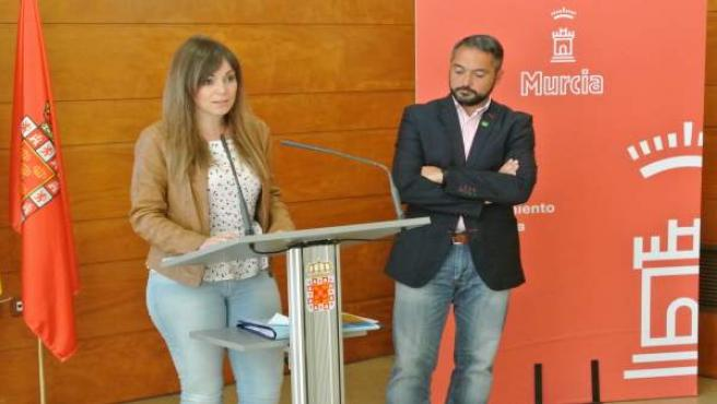 Rueda de prensa de Rebeca Pérez y Rafael Gómez