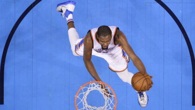 Kevin Durant, en acción.