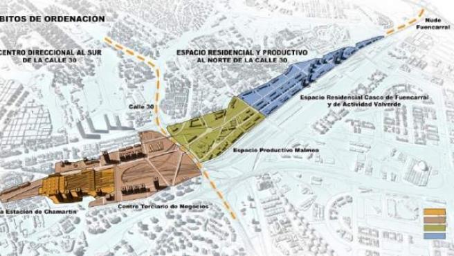 Proyecto 'Madrid Puerta Norte', que sustituye a la última versión de la Operación Chamartín