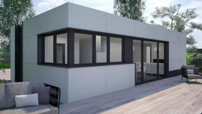 Uno de los modelos de casa, que el cliente personaliza por la web.