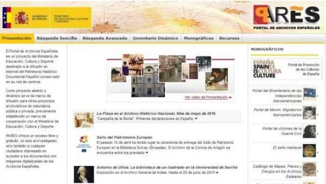 Versión renovada 2.0 de PARES, el Portal de Archivos Españoles