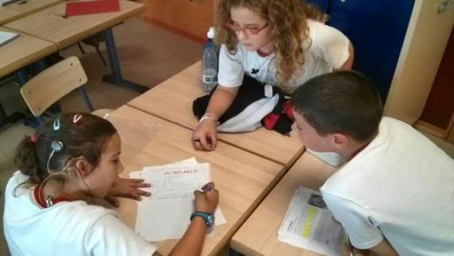 Alumnos con lengua de signos