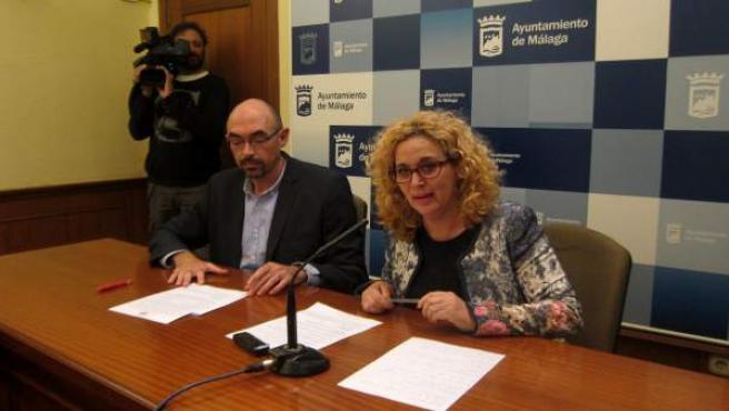 Eduardo Zorrilla y Remedios Ramos, concejales de IU-Málaga para la Gente