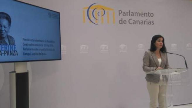 Carolina Darias, en la presentación