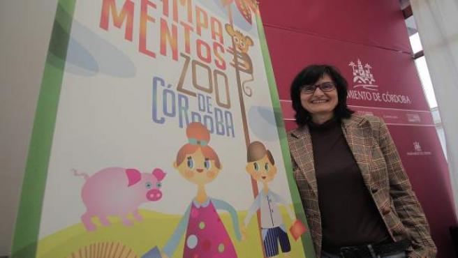 Amparo Pernichi en la presentación de las actividades del zoo