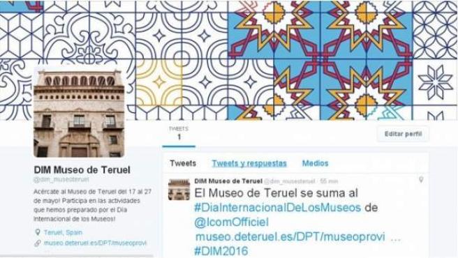 Perfil en Twitter del Museo de Teruel