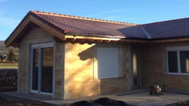 Una casa prefabricada construida en Cantabria.
