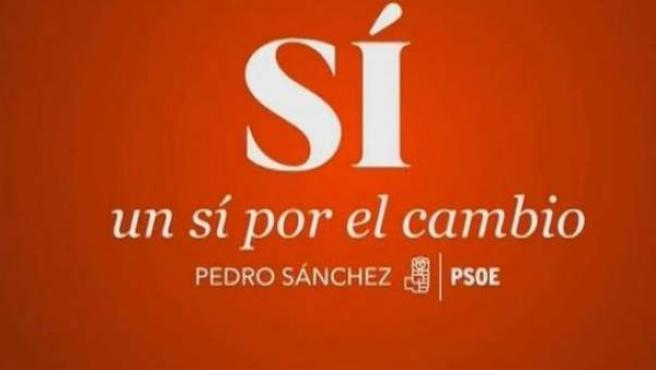 Nuevo lema de campaña del PSOE para las elecciones generales del 26-J.