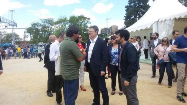 Ximo Puig asiste a la 'Primavera educativa' en Valencia