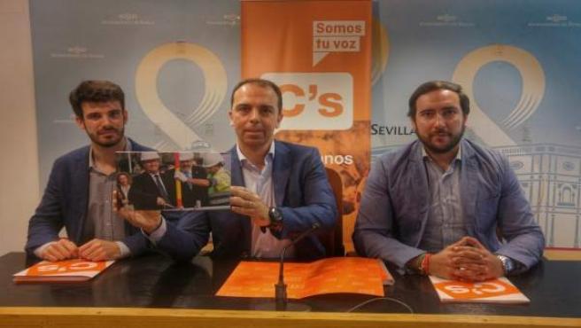 Rueda de prensa de Ciudadanos Sevilla