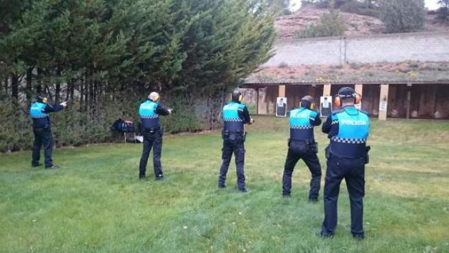 Prácticas de tiro de la Policía Local de Teruel.