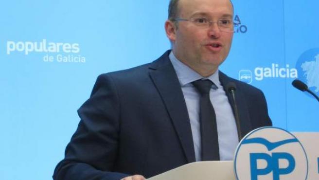 El secretario xeral del PPdeG, Miguel Tellado