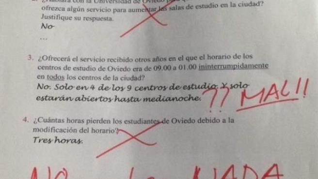 Examen simbólico de Nuevas Generaciones a Wenceslao López.