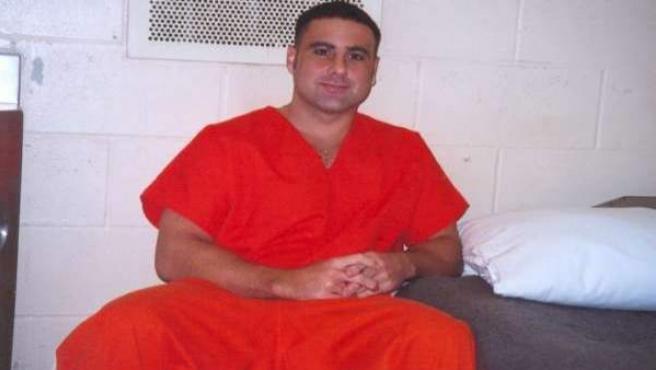 Pablo Ibar, en su celda de la penitenciaría de Starke (Florida).