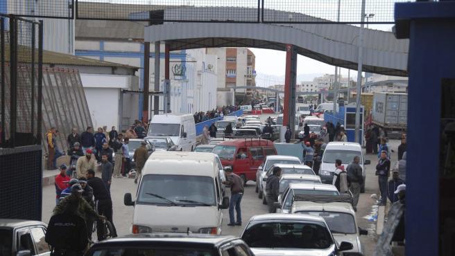 Puesto fronterizo de Beni Enzar, entre Melilla y Marruecos.
