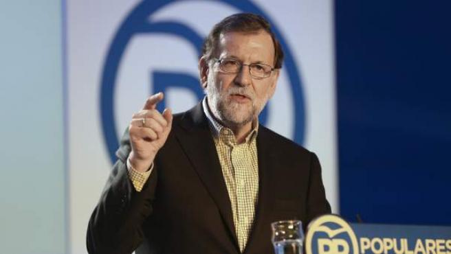 El candidato a la presidencia del Gobierno por el Partido Popular, Mariano Rajoy.