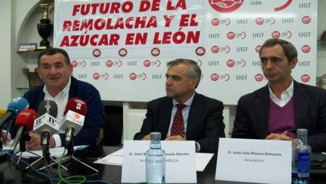 Francisco Fernández, José Manuel Palazuelo y Juan Luis Rivero