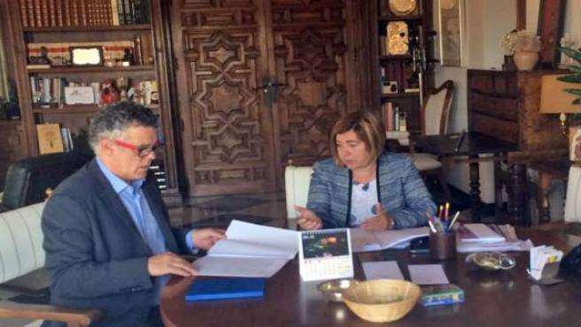 Reunión Diputación de Cáceres con Junta de Extremadura