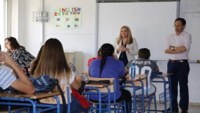 Silvia Cabrera en el IES Salvador Rueda