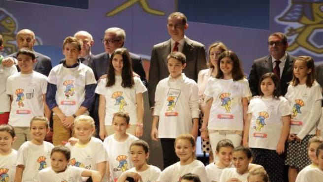Felipe VI en la presentación de la mascota de los Juegos del Mediterráneo 2017