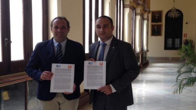 Juan Cassá, portavoz de Ciudadanos, y Mario Cortés, del PP
