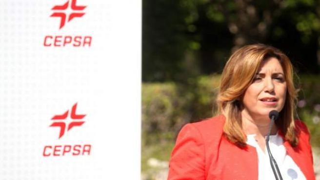 Susana Díaz en el 50 aniversario de Cepsa en San Roque