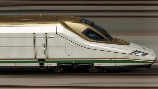 Fotografía facilitada por Talgo de un tren de alta velocidad similar al que un consorcio español, liderado por Renfe, Adif y Talgo, entre otras compañías, construirá entre Medina y La Meca.