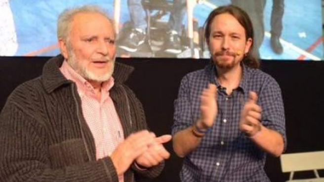 Pablo Iglesias y Julio Anguita.