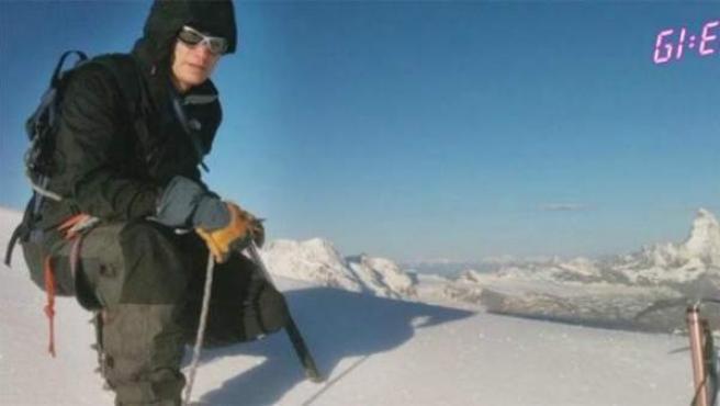 El alpinista Eric Arnold, durante su ascenso al Everest este mes de mayo.