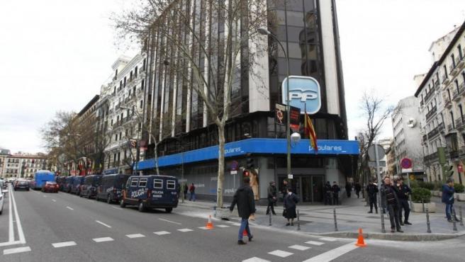 Sede del PP en la madrileña calle de Génova.