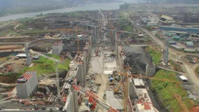 Las obras de ampliación del Canal de Panamá, a cargo de la empresa española Sacyr.