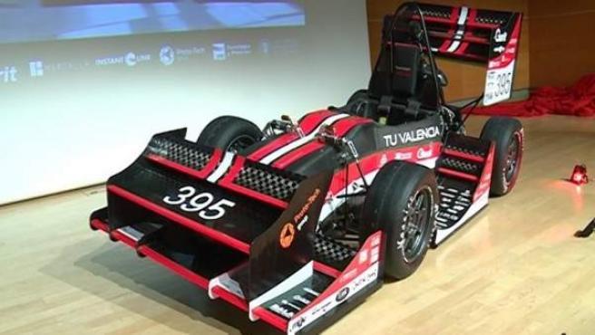 Coche del equipo de Formula Student de la UPV