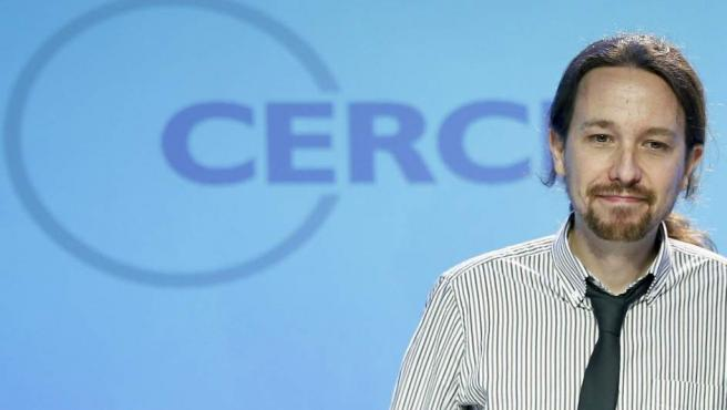 Pablo Iglesias durante su intervención en la Reunión del Círculo de Economía de Barcelona.