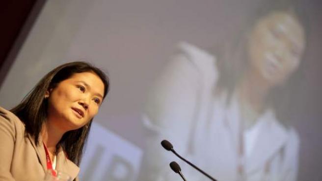 Keiko Fujimori, candidata a las elecciones presidenciales de Perú.