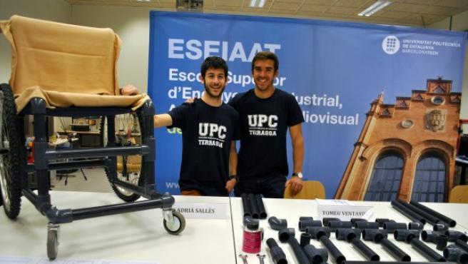 Adriá Sallés y Tomeu Ventayol, los inventores de la silla de ruedas de bajo coste.