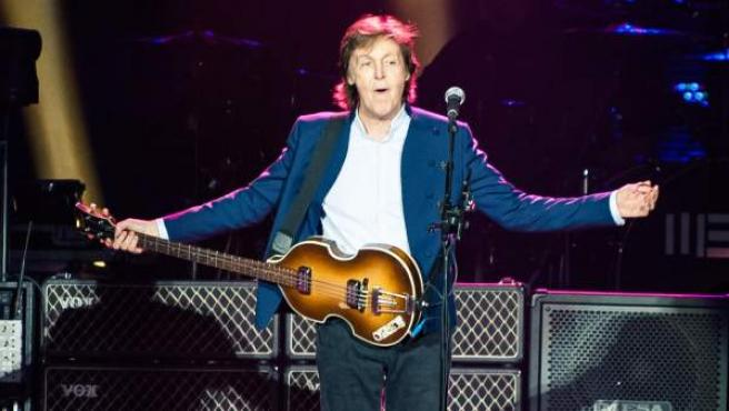 El cantante Paul McCartney, durante un concierto en Londres el pasado 23 de mayo.